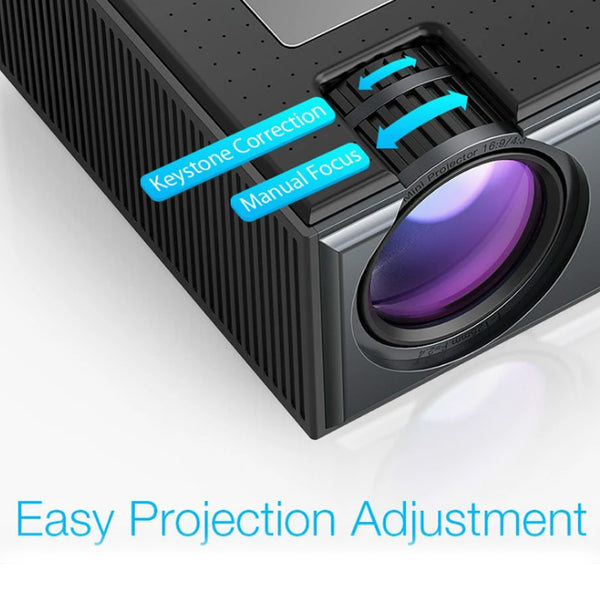 LCD Projector 2800 Lumens Support 1080P Portable Smart Home Theater