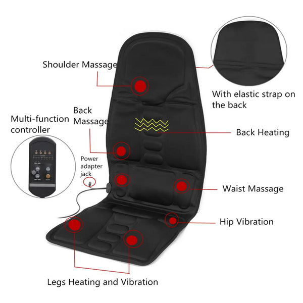 Neck Lumbar Back Pain Relief Tools Massage Heating Relaxation Mat Seat