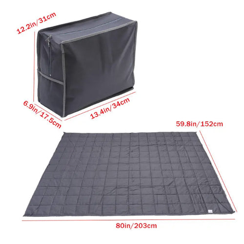Weighted Blanket Sensory Sleep Reduce Anxiety Bed Cotton 152x203cm