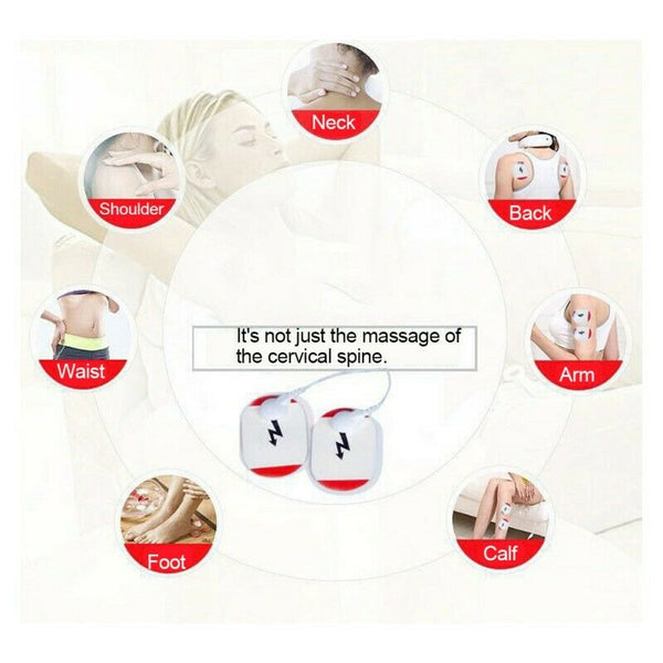 Electric Cervical Neck Support Massager Body Shoulder Relax Massage Magnetic Therapy