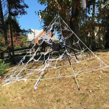 200' Halloween Spider Web + 20/30' Giant Spider Decorations Spider for Halloween