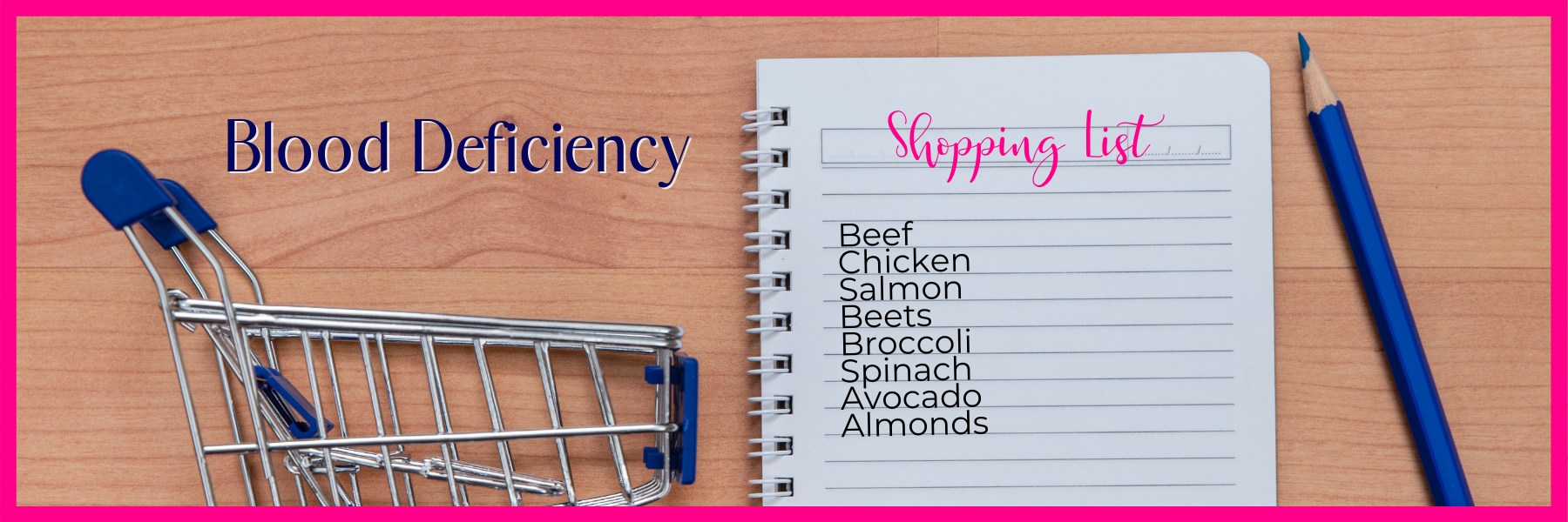 Blood Deficiency Shopping List