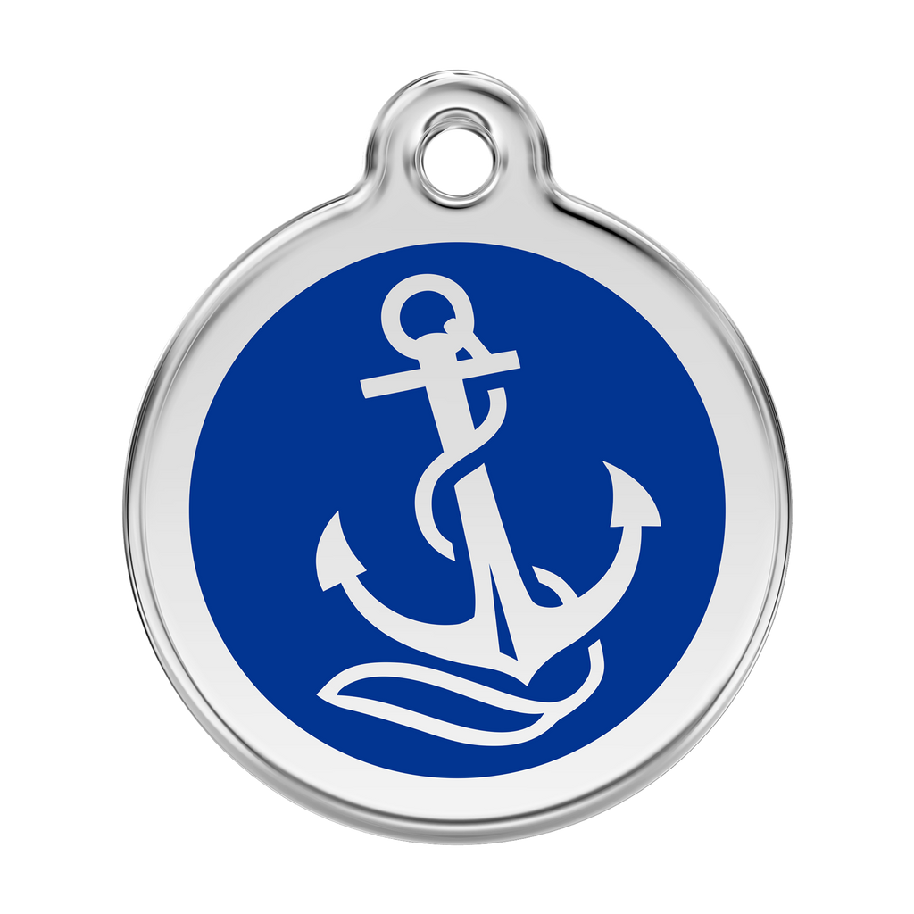Red Dingo - Enamel Pet ID Tag - Anchor