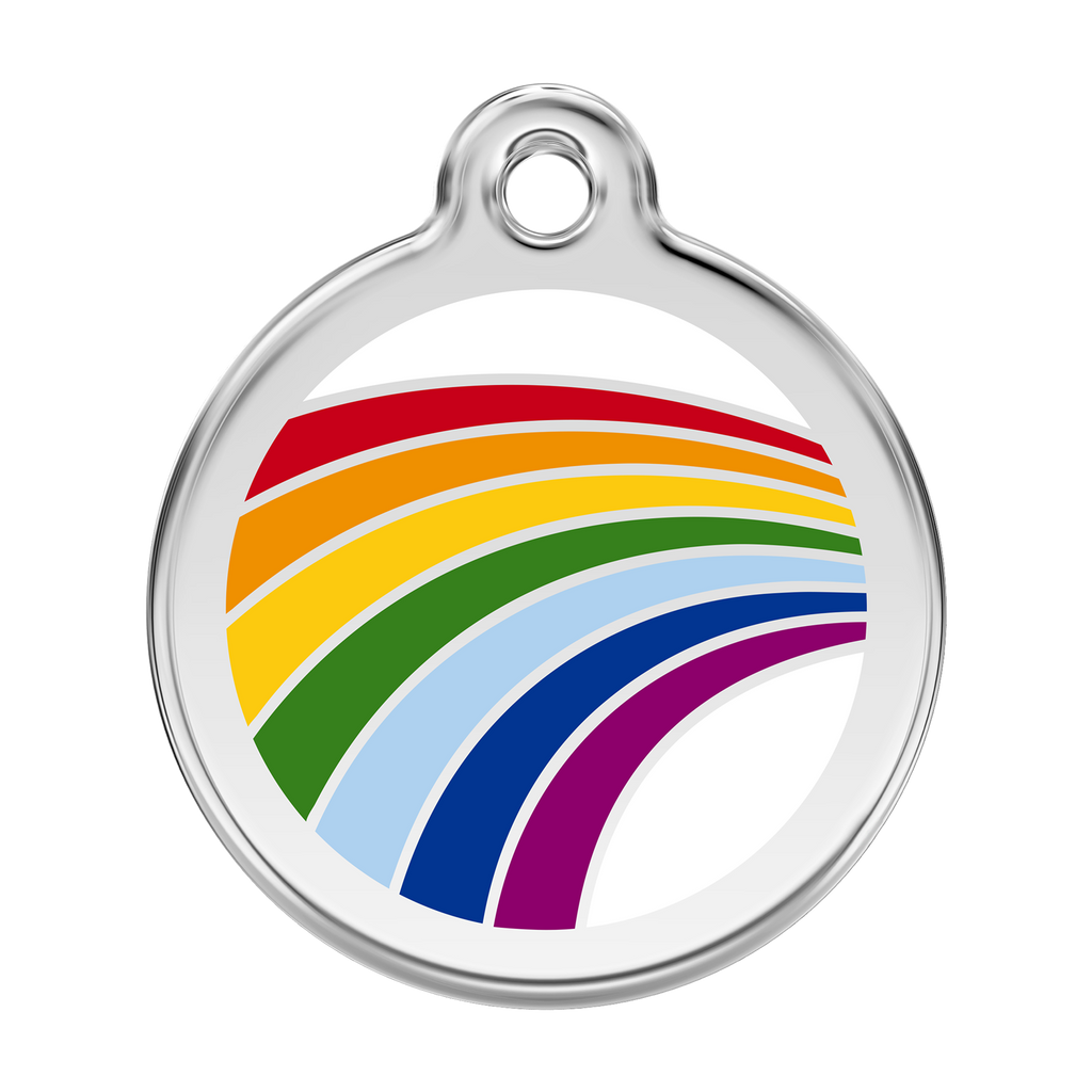 Red Dingo - Enamel Pet ID Tag - Rainbow