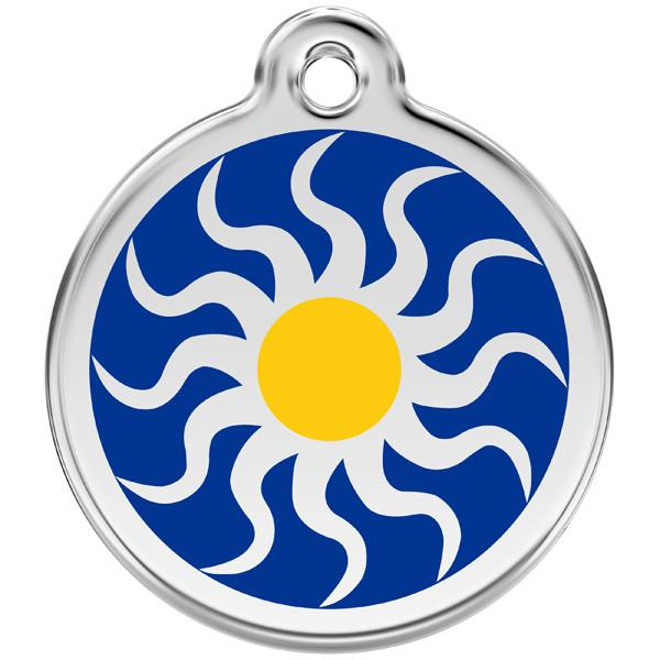 Red Dingo - Enamel Pet ID Tag - Tribal Sun