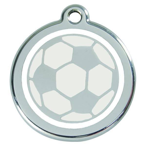 Red Dingo - Enamel Pet ID Tag - Football