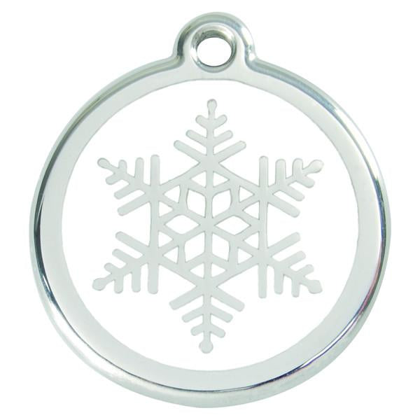 Red Dingo - Enamel Pet ID Tag - Snowflake