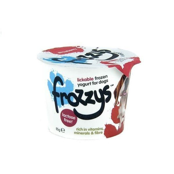 Frozzys Lickable Frozen Strawberry Yoghurt Treat for Dogs (4x85g)
