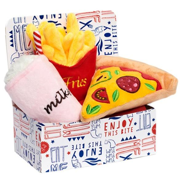 McDoggie's Pizza Meal Deal Box (3 Toy Combo)