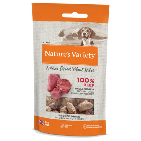 Nature's Variety Freeze Dried Beef Bites 20g