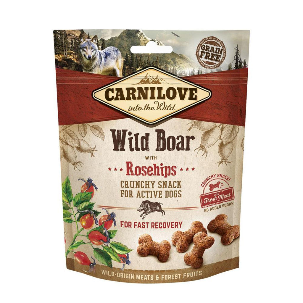 Carnilove Wild Boar with Rosehips Crunchy Dog Treats 200g