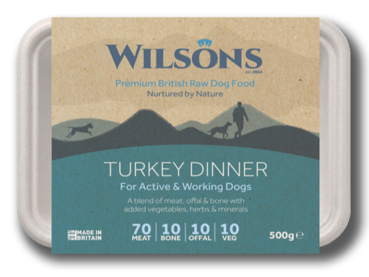 Wilsons Premium Raw - Turkey Dinner 500g