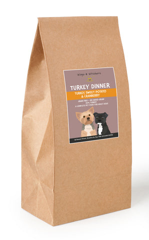 Wags & Whiskers Turkey Dinner Grain Free Dry Food