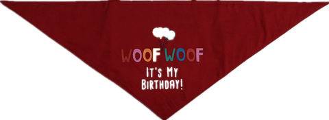 House of Paws Birthday Bandana