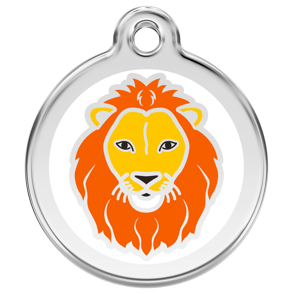 Red Dingo - Enamel Pet ID Tag - Lion