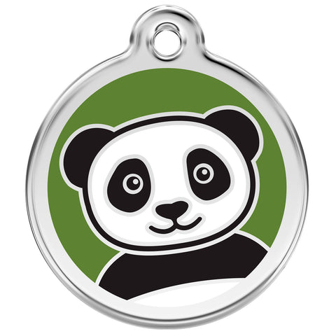 Red Dingo - Enamel Pet ID Tag - Panda