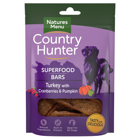 Natures Menu Superfood Bars (Turkey with Cranberries & Pumpkin)