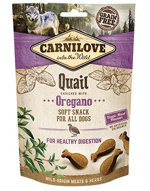 Carnilove Quail with Oregano Semi-Moist Dog Treats 200g