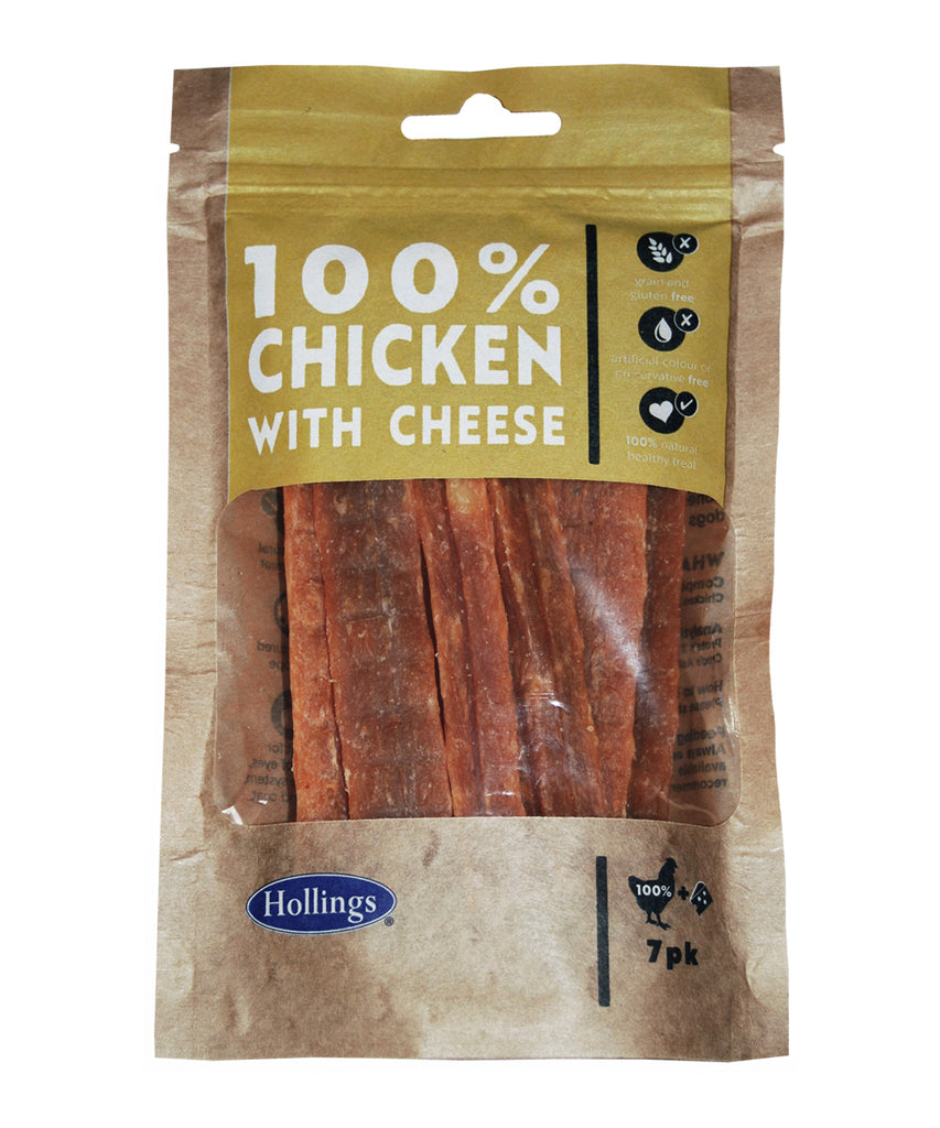 Hollings 100% Chicken Bars with Cheese