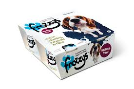Frozzys Lickable Frozen Blueberry Yoghurt Treat for Dogs (4x85g)