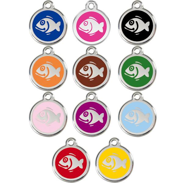 Red Dingo - Enamel Pet ID Tag - Fish