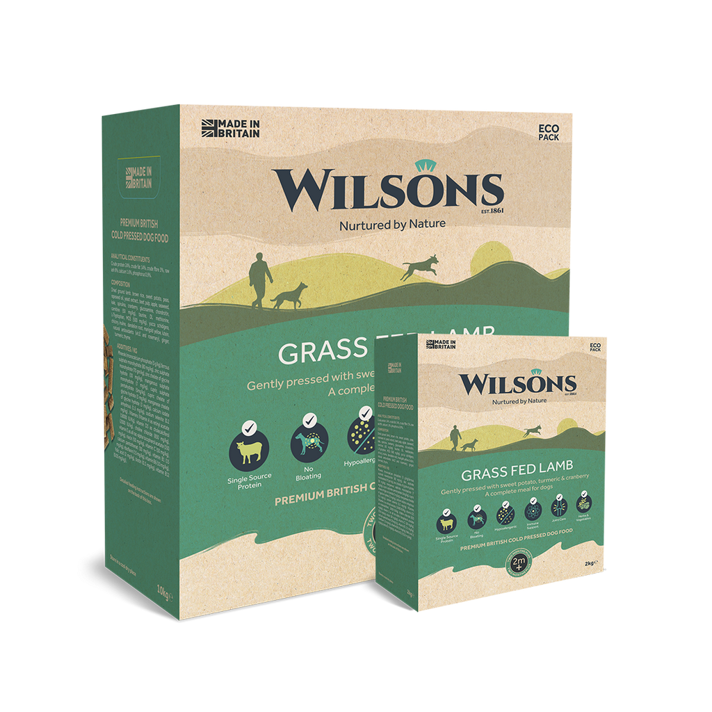 Wilsons - Grass Fed Lamb - Premium British Cold Pressed Dog Food