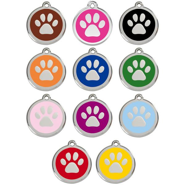Red Dingo - Enamel Pet ID Tag - Paw Print