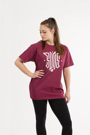 T SHIRT LOGO BURGUNDY