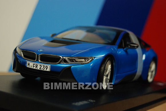 Genuine BMW i8 Diecast Model - 1:18 Scale (Protonic Blue)