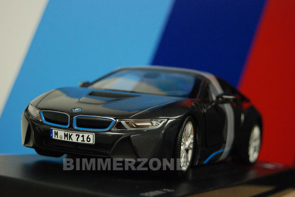 Genuine BMW i8 Diecast Model - 1:18 Scale (Sophisto Grey)
