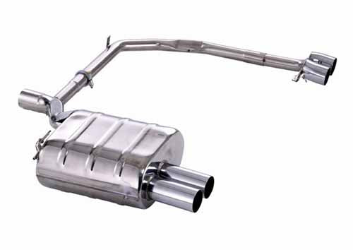 BMW Eisenmann Exhaust - 520I/523I/525I/528I/530I (E39) Sedan - M-Tech Bumper - 4X76mm Round Tips