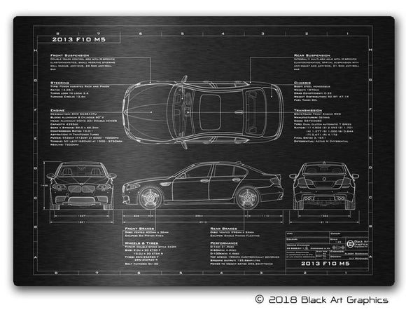 BMW Engineered Art Laser Etched Blueprint Artwork 23