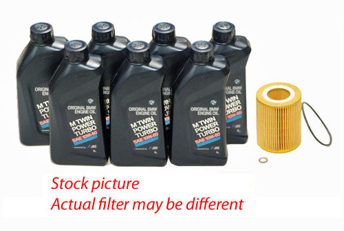 BMW 3 Series E46 M3 Oil Change Kit (7 Castrol 10W-60 Motor Oil + Mann HU926/4X Oil Filter)