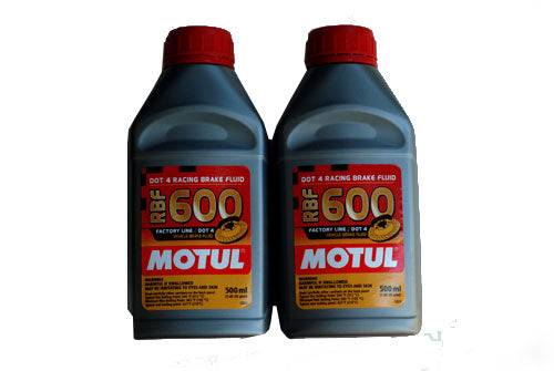 Motul 600 Brake Fluid (Pack Of 2, Each Bottle 0.5 Liter)