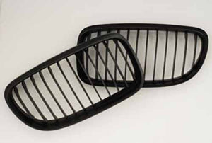 BMW Matte Black Grill (Front Pair) for E82 Coupe & E88 Cab 1 Series