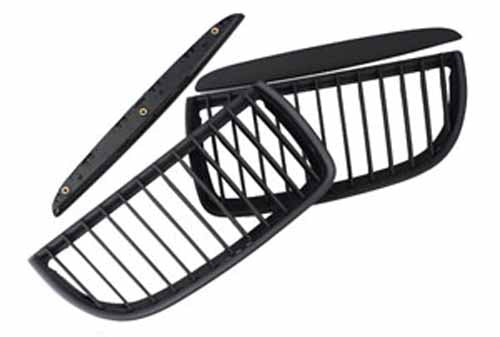 BMW Matte Black Grill (Front Pair) for E90 Sedan & E91 (06-08 PRE-LCI, Non-M3)
