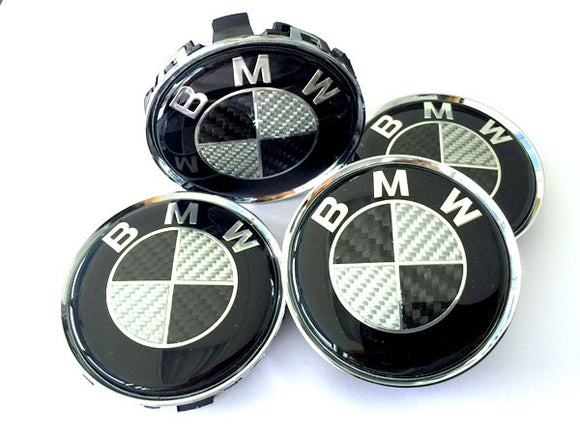 Vsl Performance Carbon Fiber Wheel Emblem (Set Of 4) (68mm)