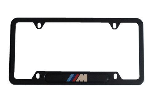 Genuine BMW License Plate Frame - Black M