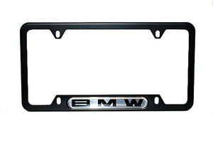 Genuine BMW License Plate Frame - Black with BMW Name