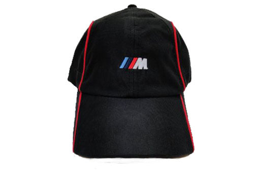 Genuine BMW M Seris Cap - Black W With Red Piping
