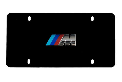 Genuine BMW License Plate - M3 Logo w/ Black Stainless Steel Plate