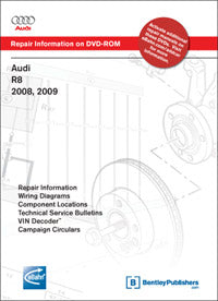 Audi R8 08-09 Service Repair Manual DVD (A427)