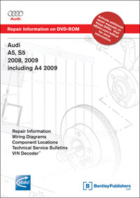 Audi A4 09, A5/S5 08-09 Service Repair Manual DVD (AB88)