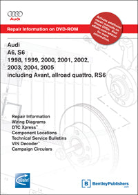 Audi A6/S6 (C5) 98-05 Service Repair Manual DVD (AC55)