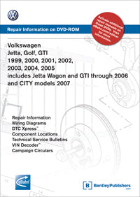 Volkswagen VW Jetta Golf GTI 99-05 Service Manual DVD (VA45)
