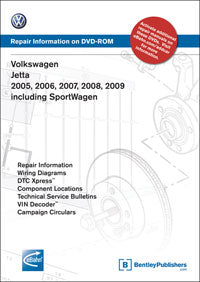Volkswagen VW Jetta 05-09 Service Repair Manual DVD (VA56)