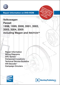 Volkswagen VW Passat 98-05 Service Repair Manual DVD (VB55)
