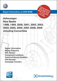 Volkswagen VW Beetle 98-09 Service Repair Manual DVD (VNB6)