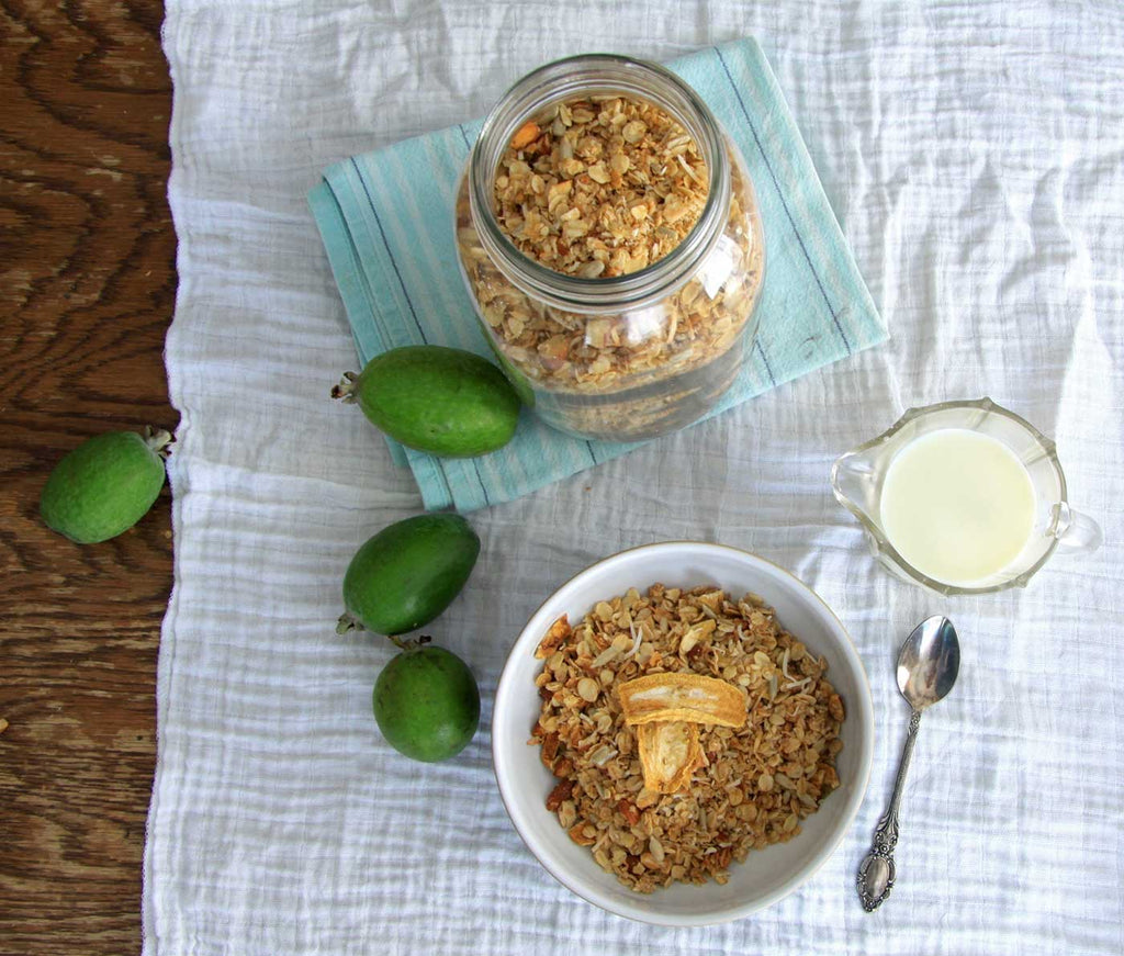 feijoa and coconut granola
