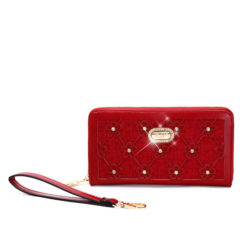 Wildflower Handmade Wristlet Wallet with Multiple Card Pockets - Brangio Italy Collections